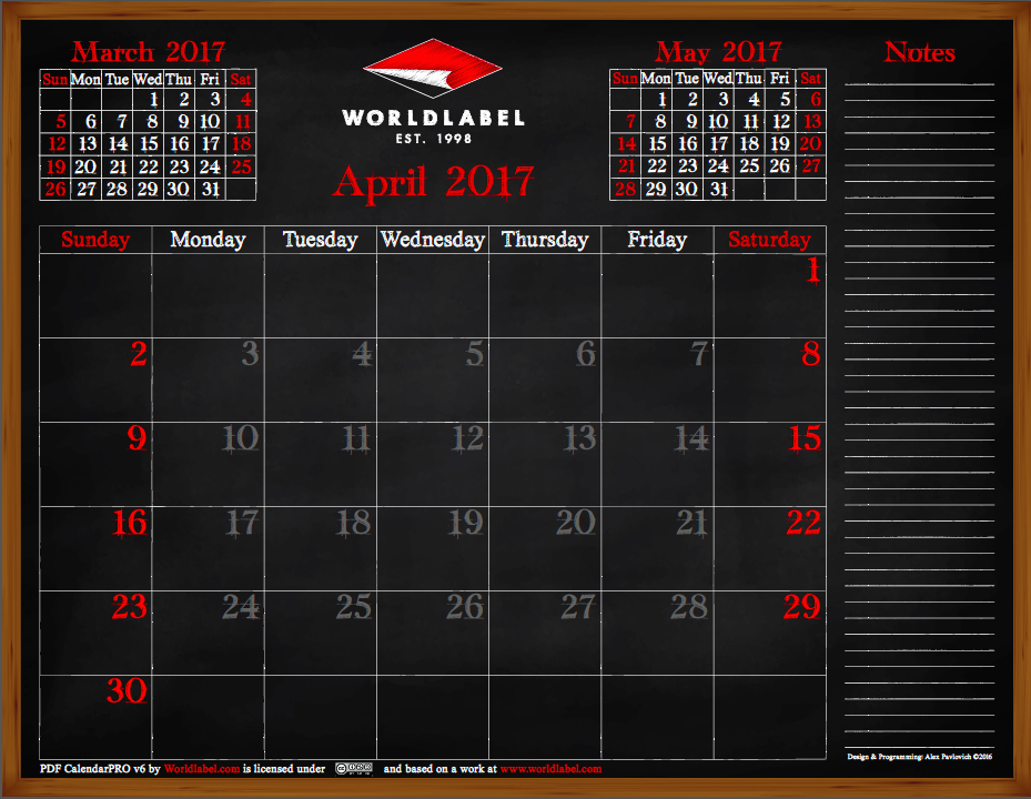 Free 2017 Pdf Editable Fillable Calendar Pro From Worldlabel