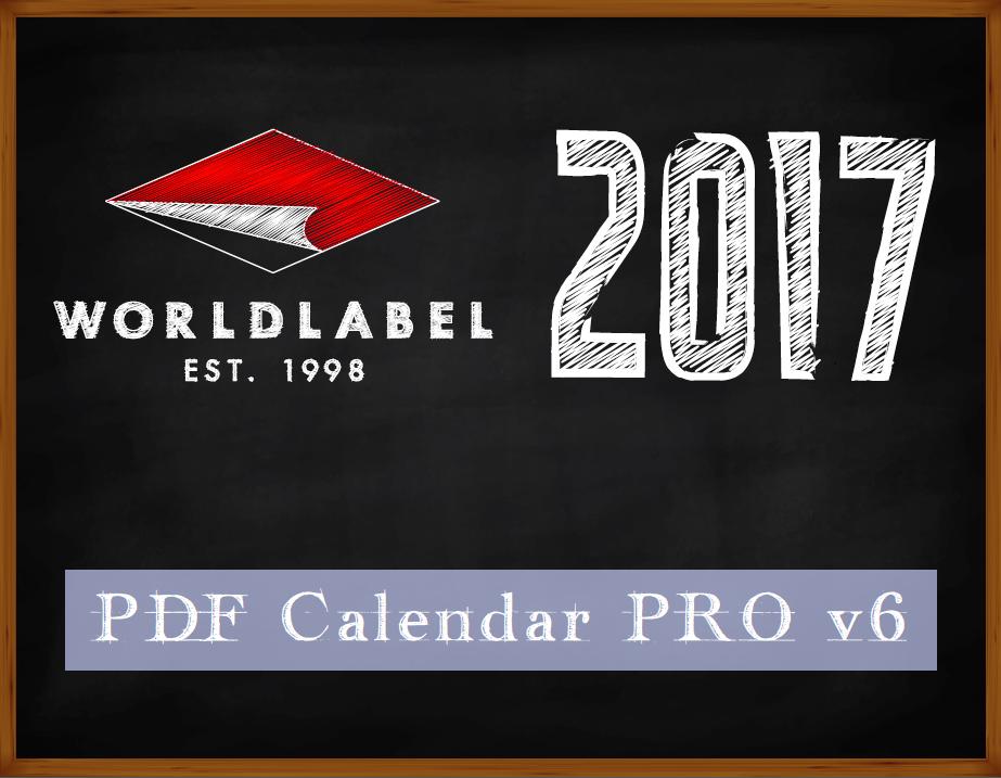 2017 PDF calendar