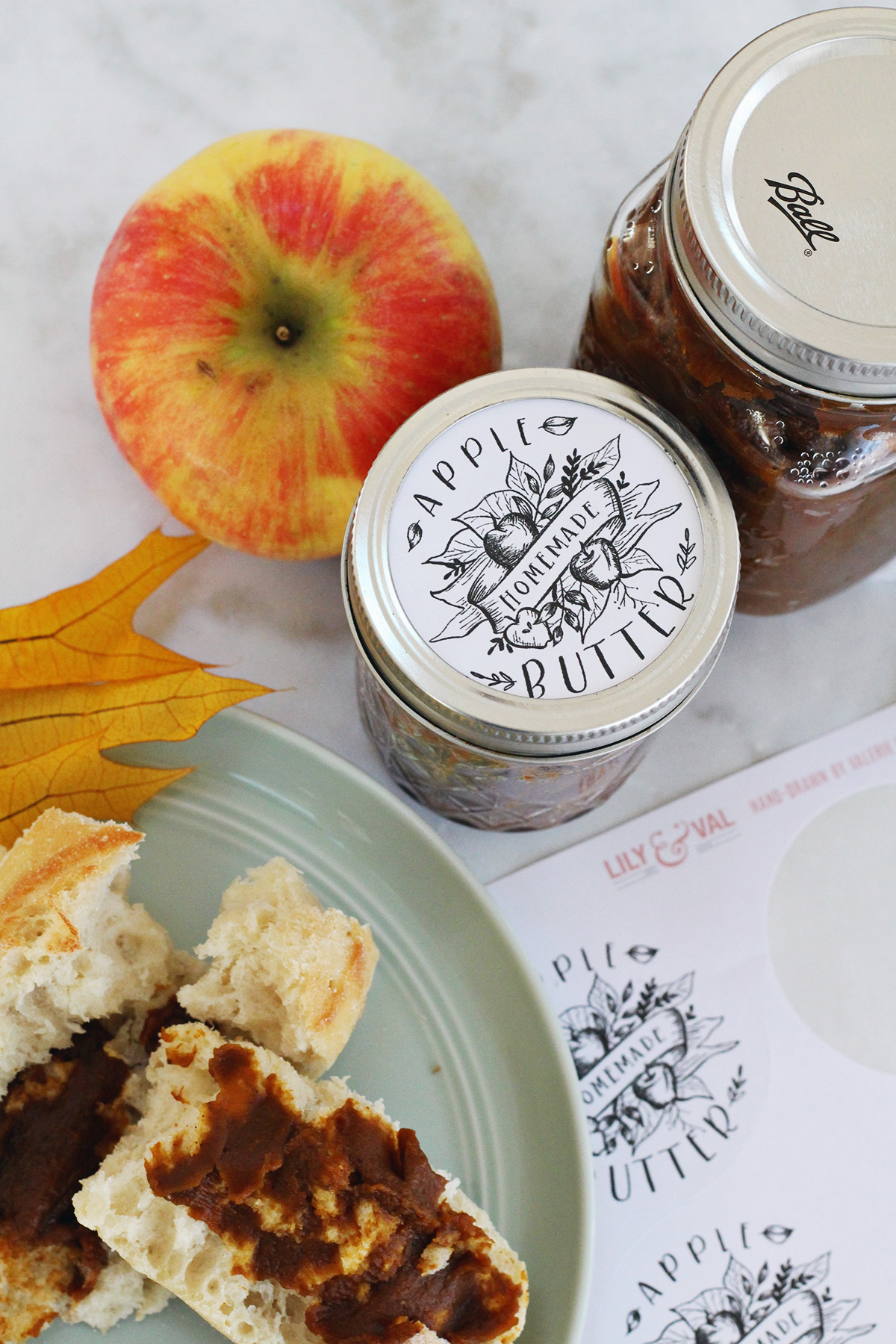 handdrawn jam styled labels by valerie mckeehan of lily
