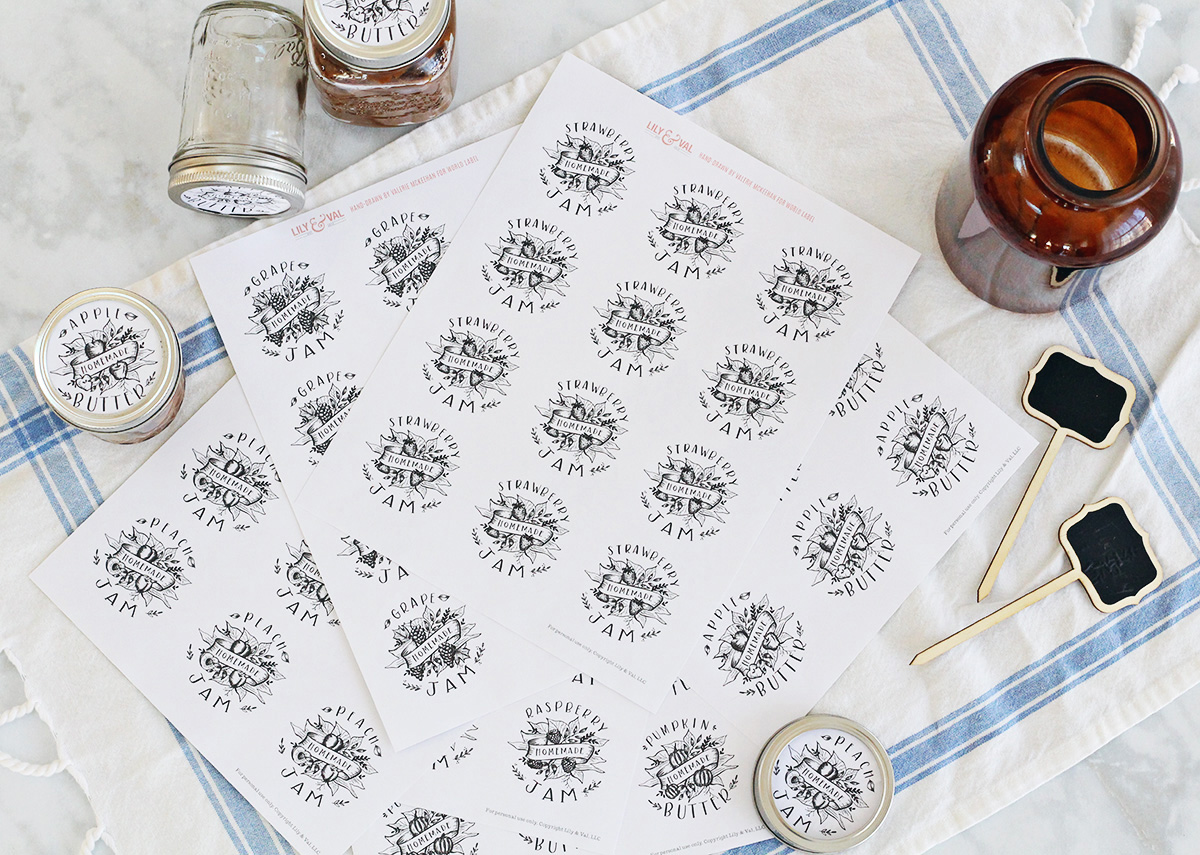 jam labels printed on label sheets