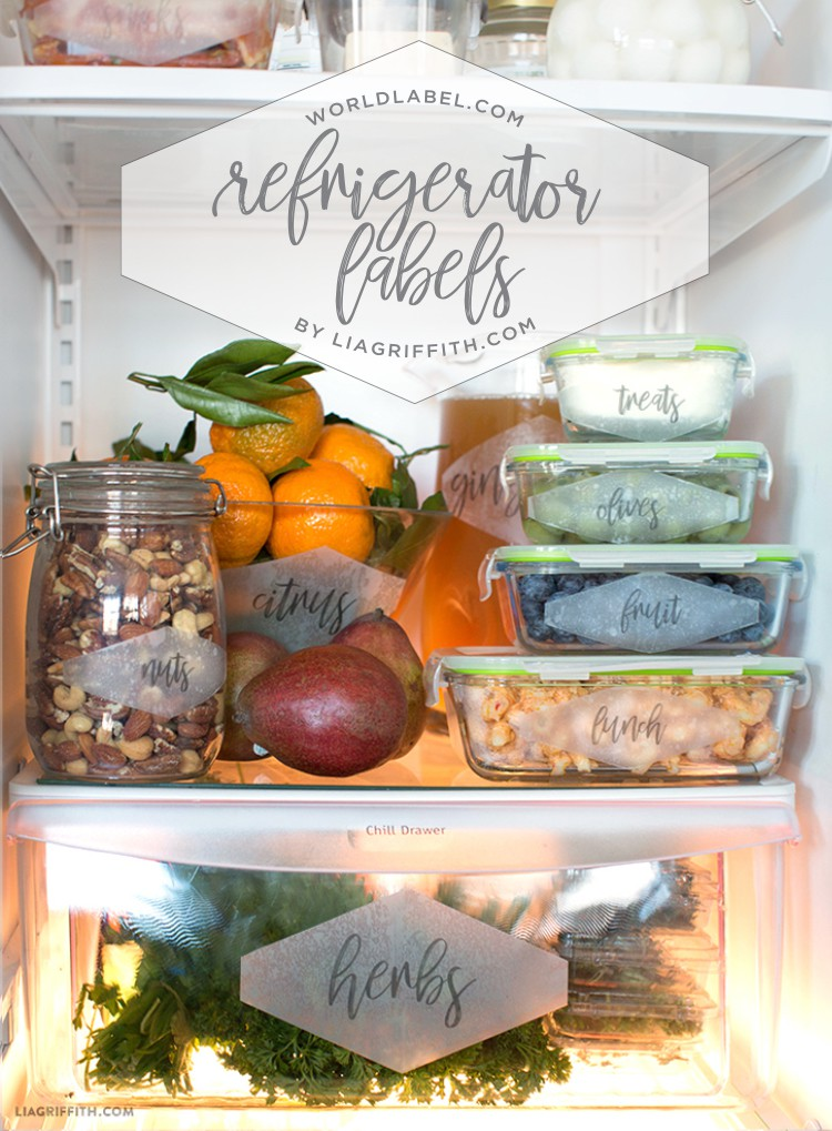 photograph about Printable Freezer Labels referred to as Printable Fridge Setting up Labels Via Lia Griffith