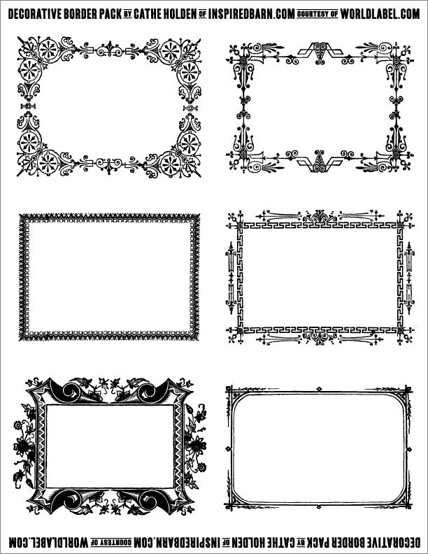 Free Decorative Border Pack Graphics By Cathe Holden Free