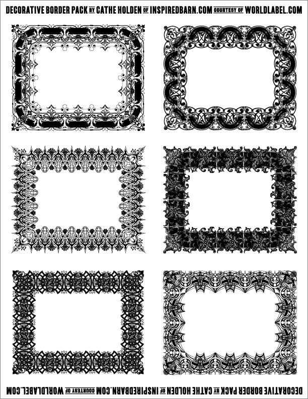 It is an image of Tactueux Decorative Printable Labels